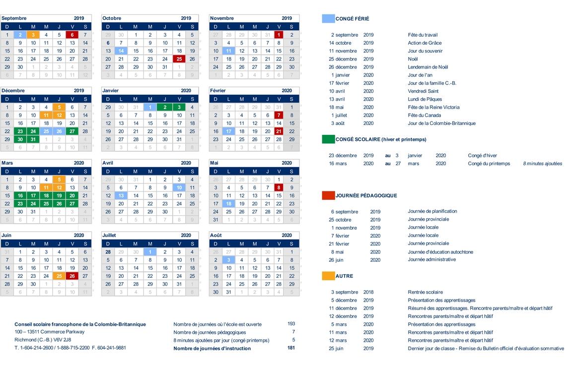 Calendrier Scolaire 2020 2020 Semaines A Et B.Ecole Les Aiglons